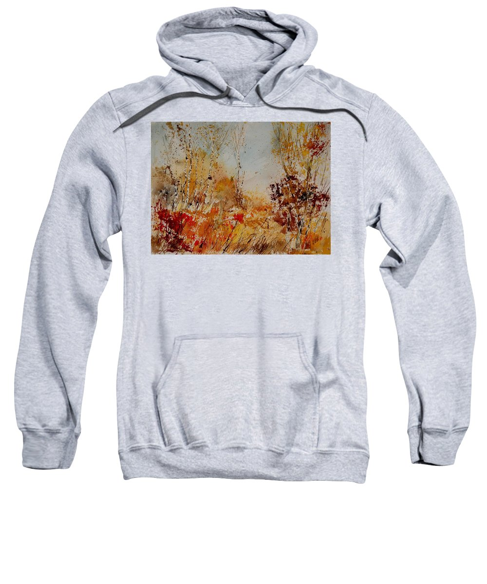 Tree Sweatshirt featuring the painting Watercolor 908031 by Pol Ledent