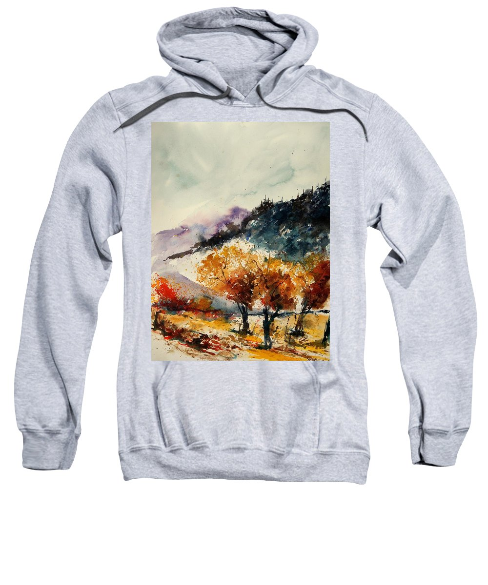 Tree Sweatshirt featuring the painting Watercolor 908041 by Pol Ledent