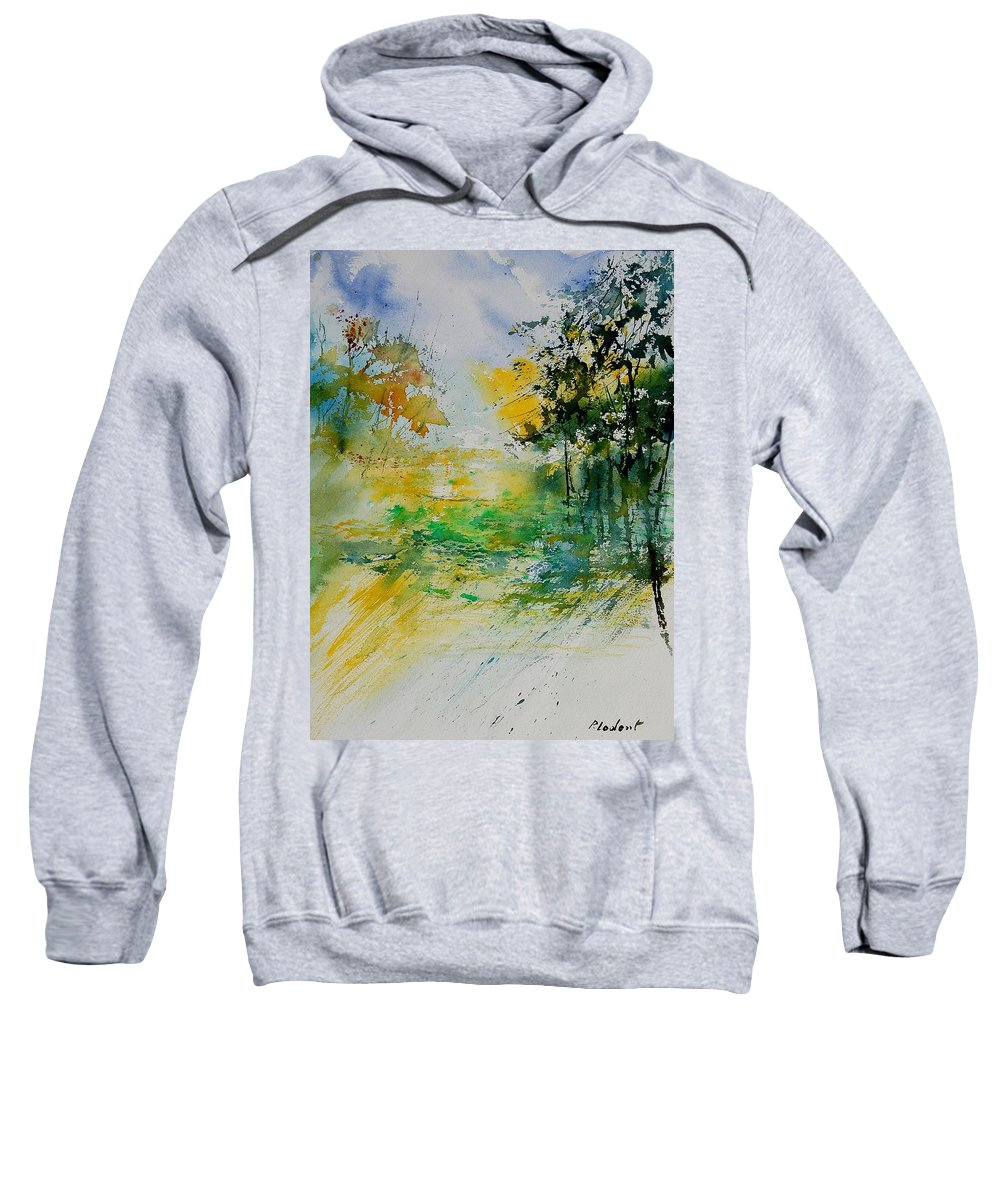 Water Sweatshirt featuring the painting Watercolor 908051 by Pol Ledent
