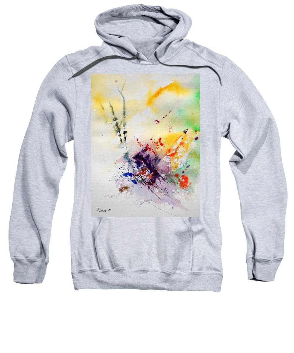 Abstract Sweatshirt featuring the painting Watercolor 908090 by Pol Ledent