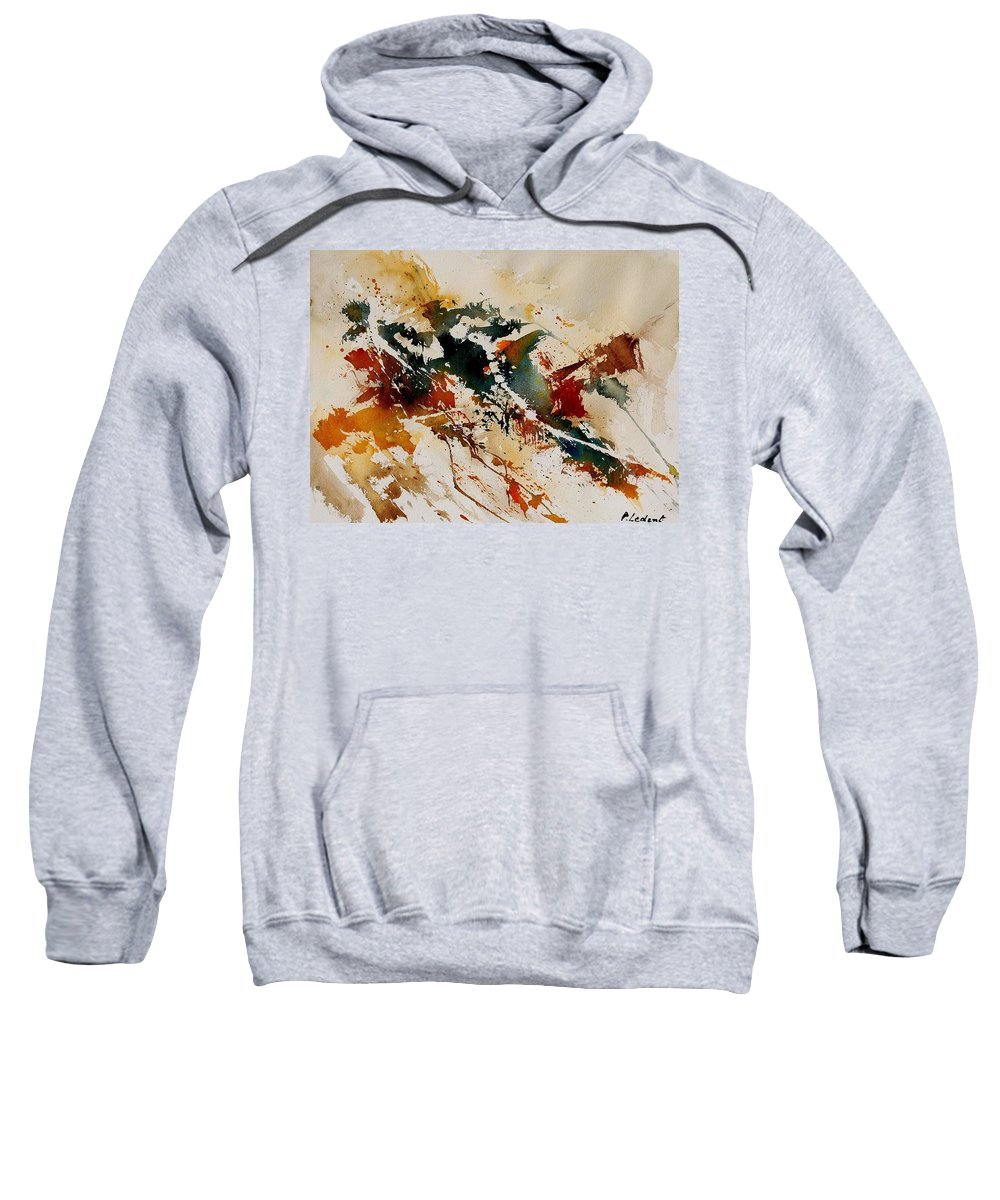 Abstract Sweatshirt featuring the painting Watercolor 90861 by Pol Ledent