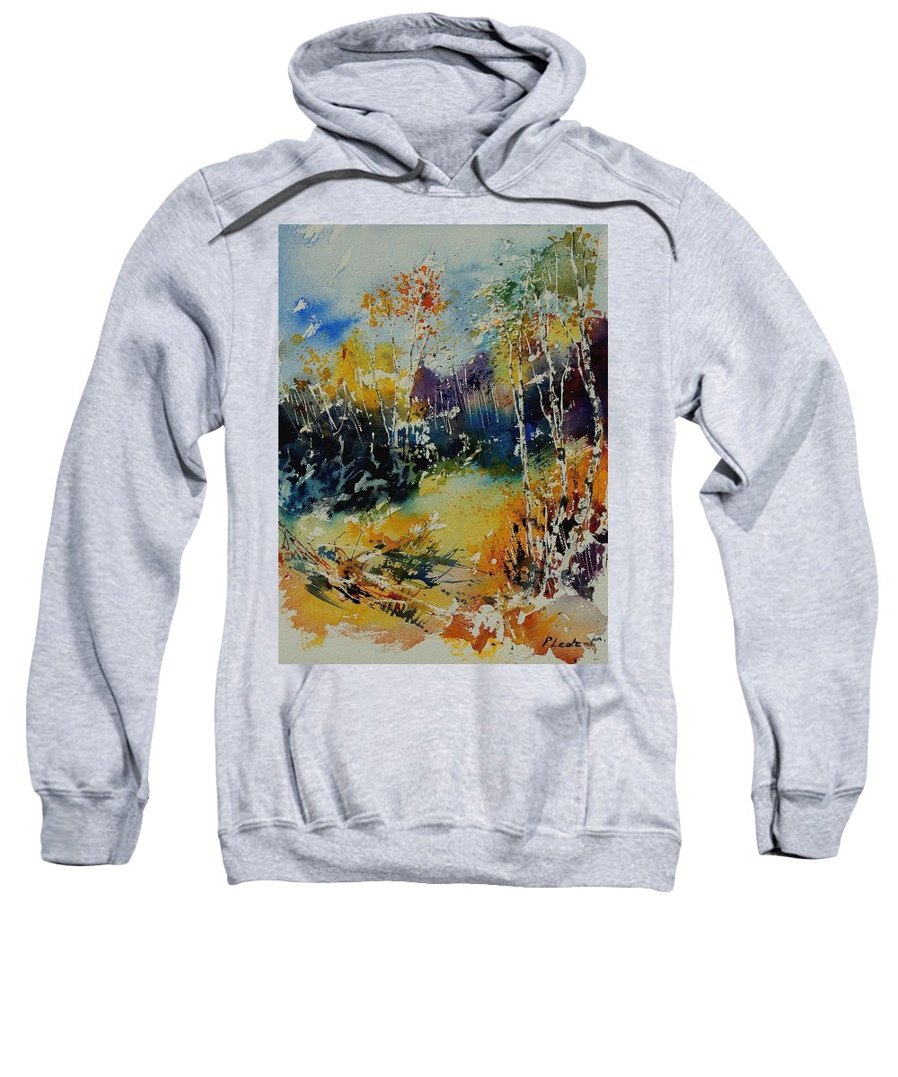 Tree Sweatshirt featuring the painting Watercolor 909052 by Pol Ledent