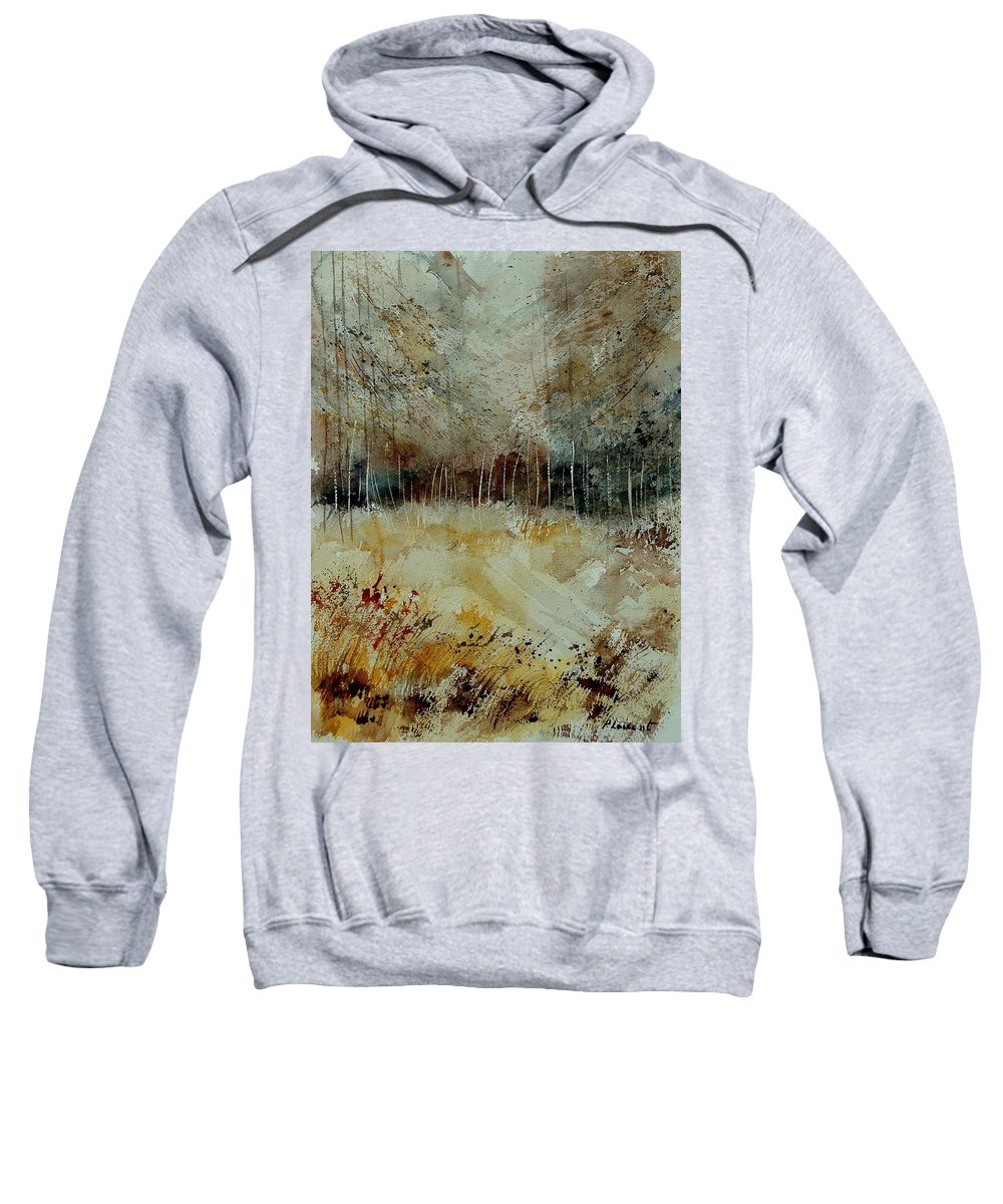 Tree Sweatshirt featuring the painting Watercolor 9090722 by Pol Ledent