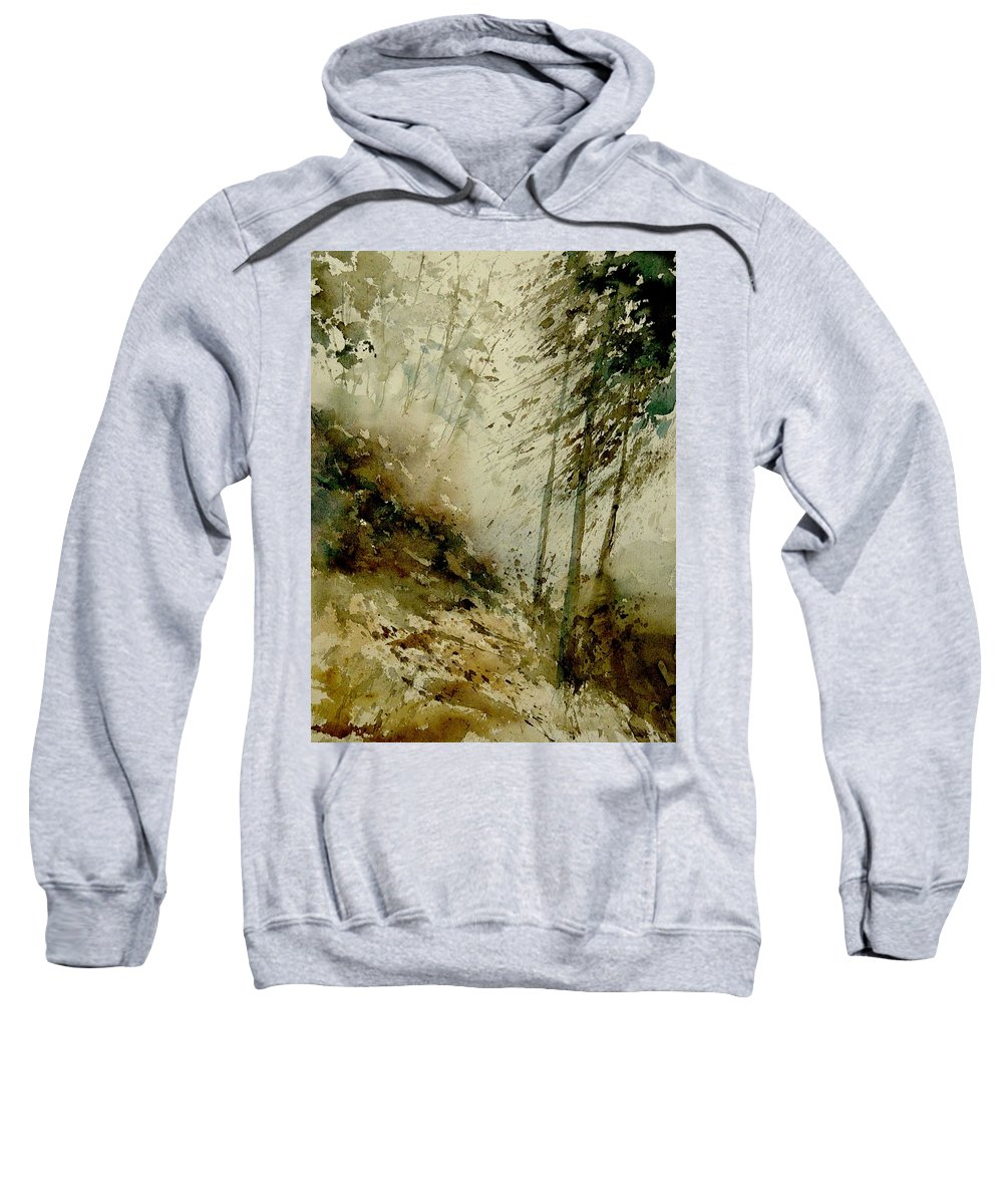 Landscape Sweatshirt featuring the painting Watercolor Misty Atmosphere by Pol Ledent