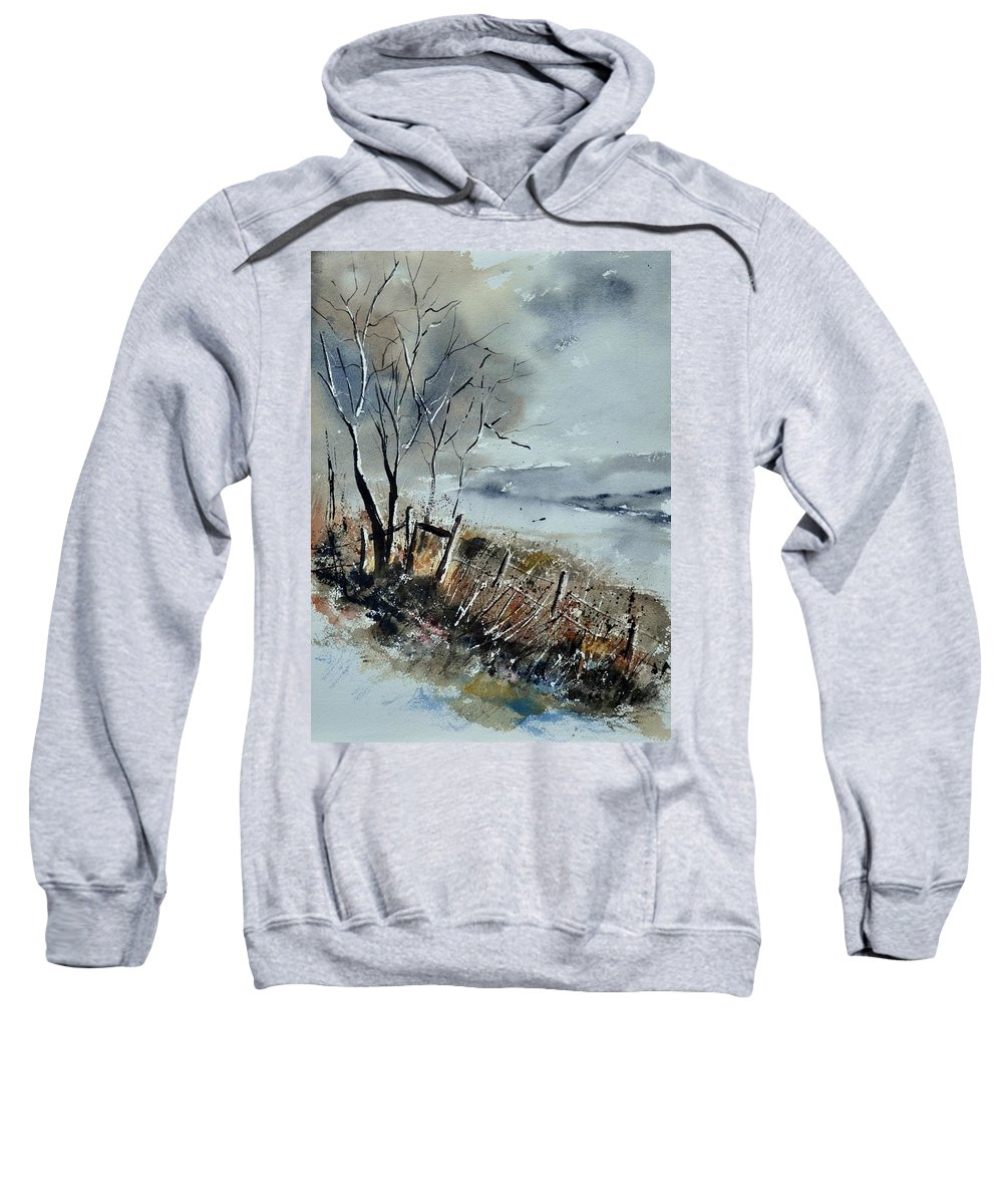 Landscape Sweatshirt featuring the painting Watercolor by Pol Ledent