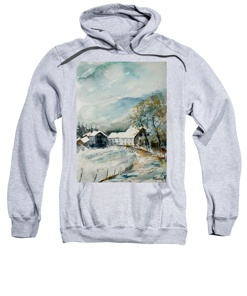 River Sweatshirt featuring the painting Watercolor Sechery 1207 by Pol Ledent