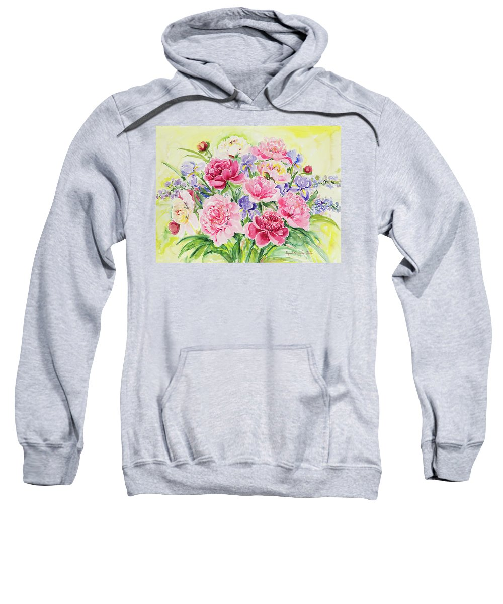 Flowers Sweatshirt featuring the painting Watercolor Series 153 by Ingrid Dohm