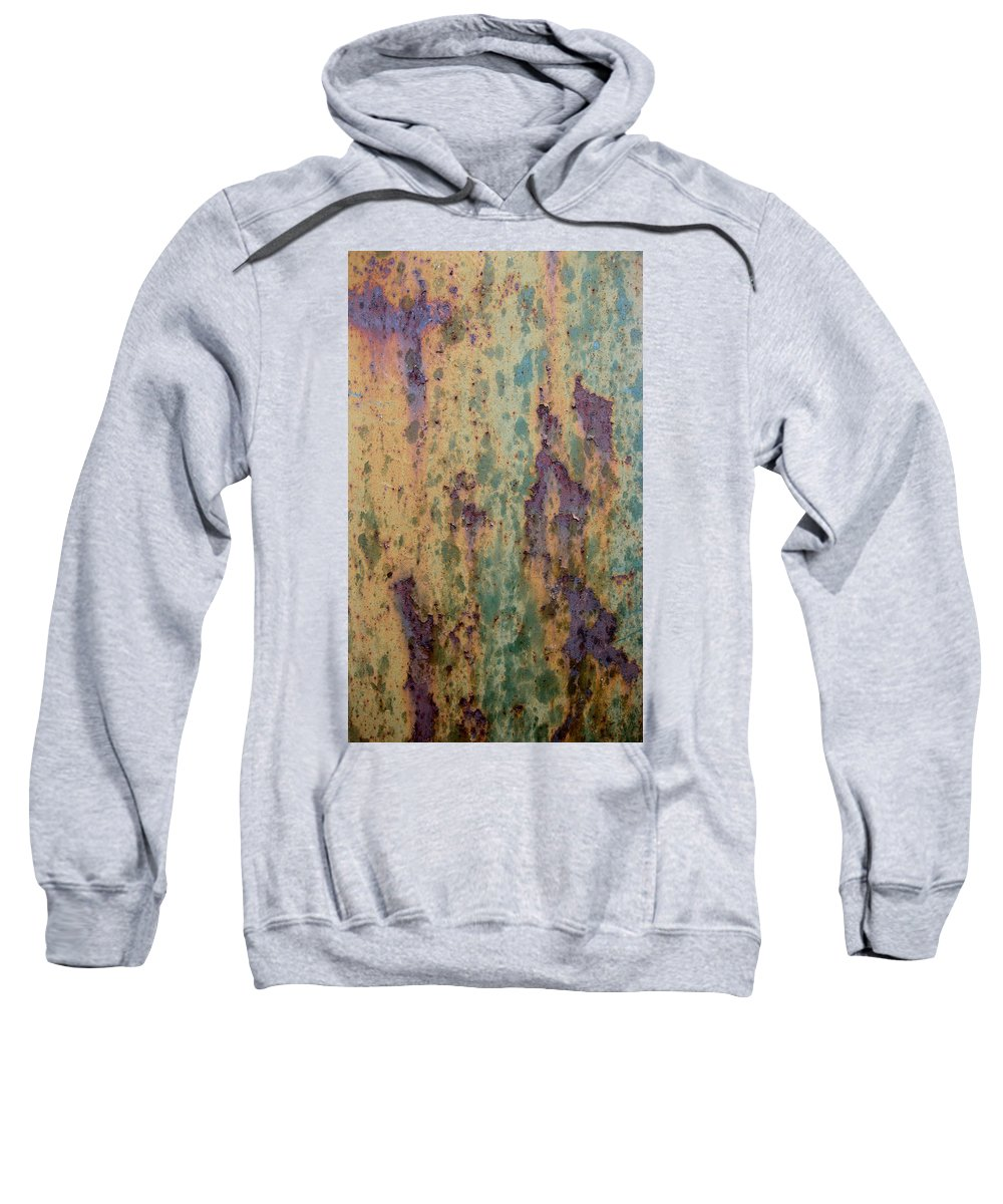 Weathered Metal Sweatshirt featuring the photograph Waterfall by Elaine Booth-Kallweit
