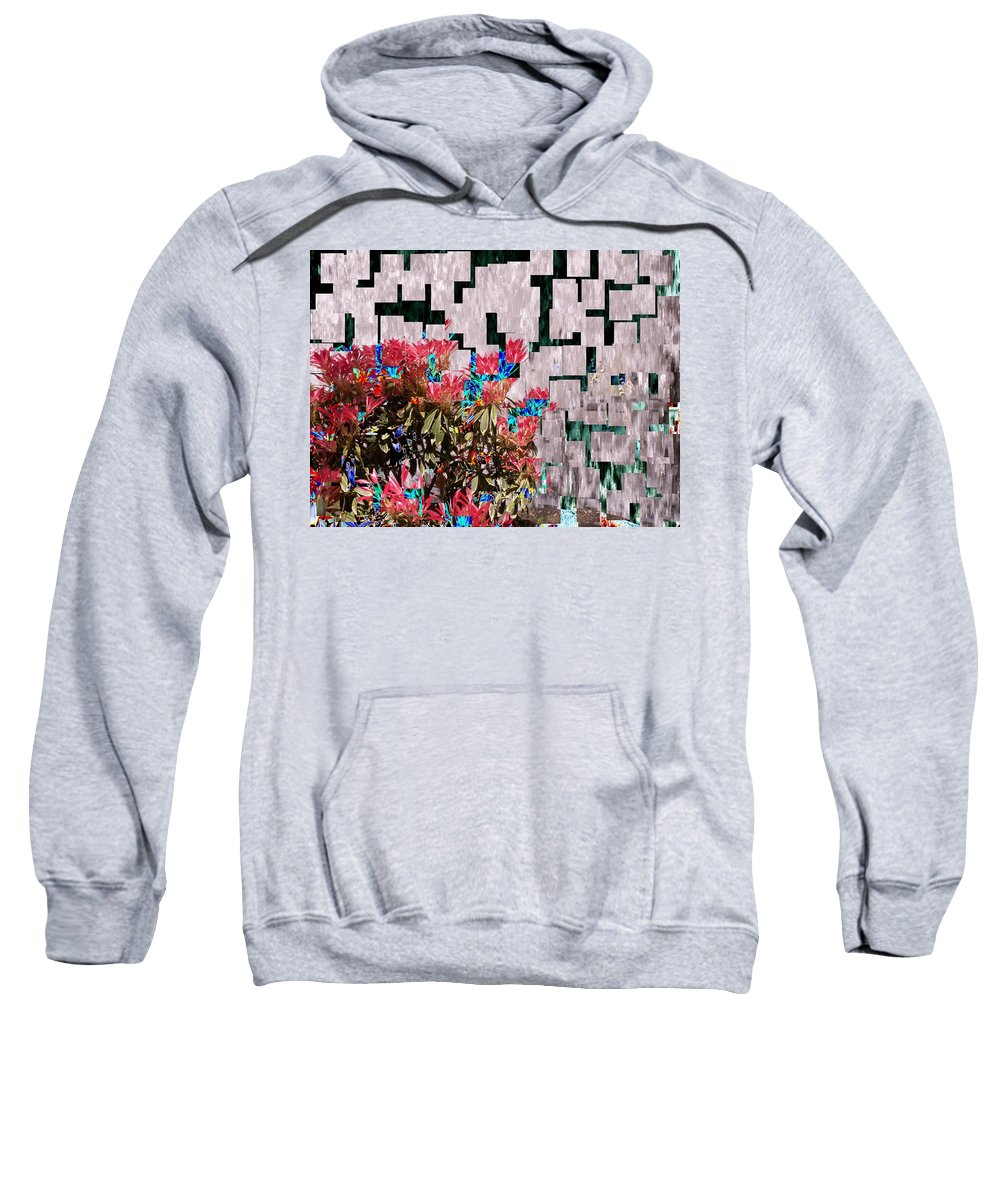 Waterfall Sweatshirt featuring the photograph Waterfall Flowers 2 by Tim Allen