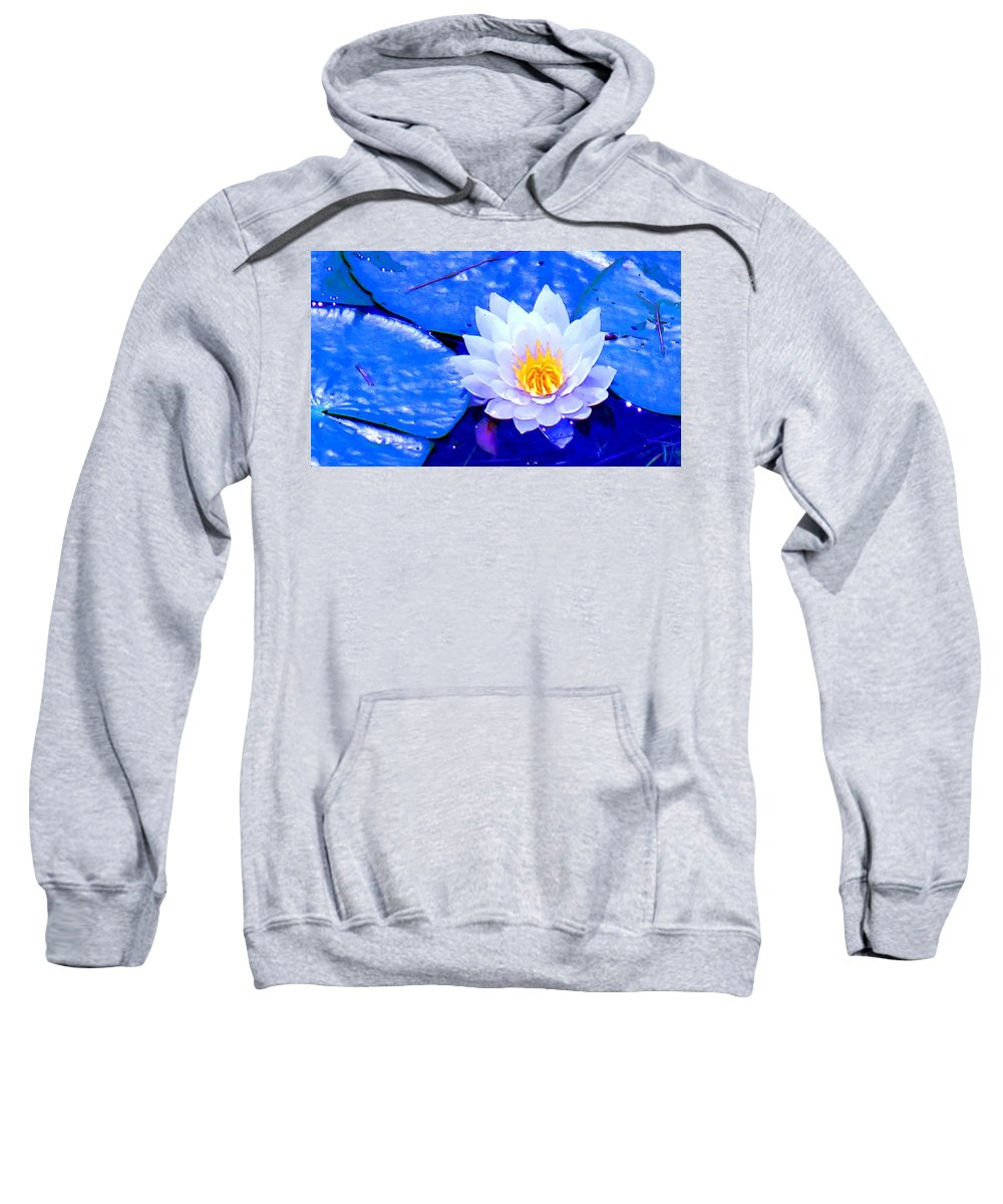 Waterlilly Sweatshirt featuring the photograph Blue Water Lily by Ian MacDonald