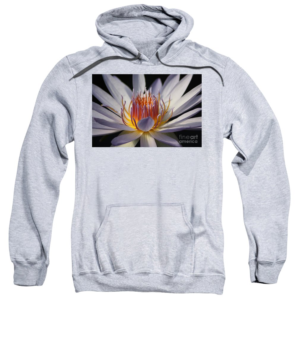 Waterlily Sweatshirt featuring the photograph Waterlily by Helen Weston