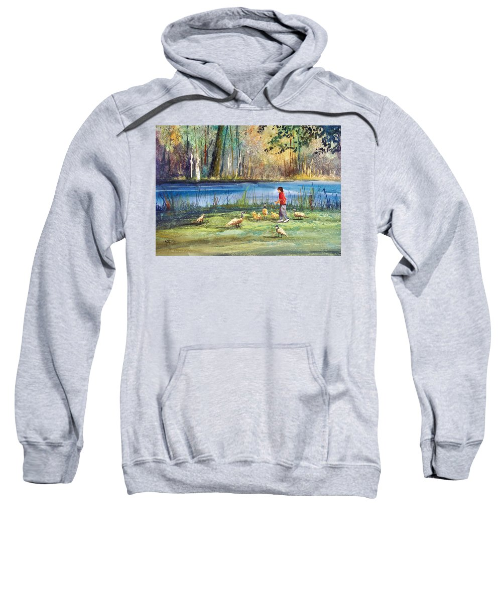 Ryan Radke Sweatshirt featuring the painting Wautoma Mill Pond by Ryan Radke