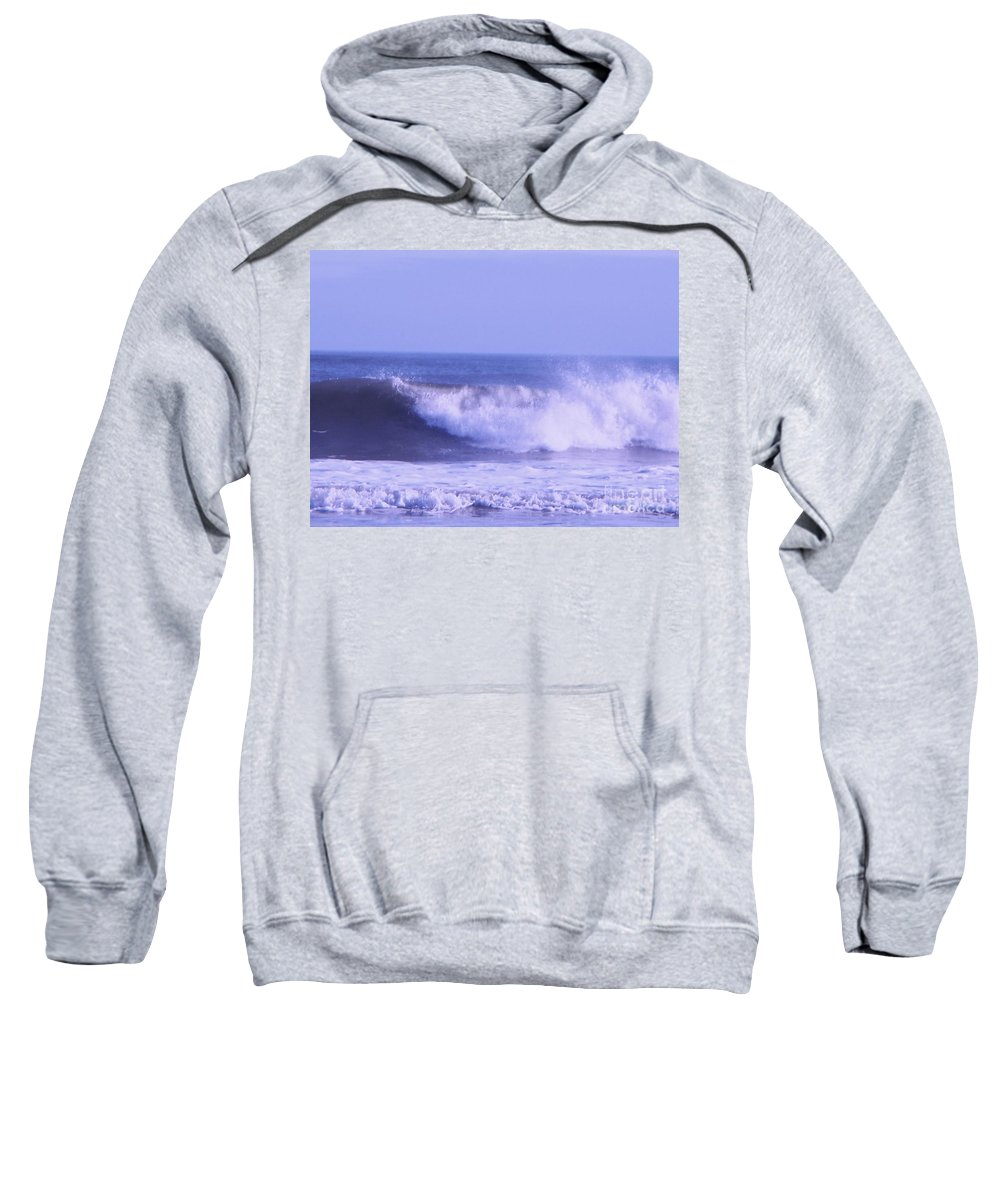 Wave Sweatshirt featuring the photograph Wave At Jersey Shore by Eric Schiabor