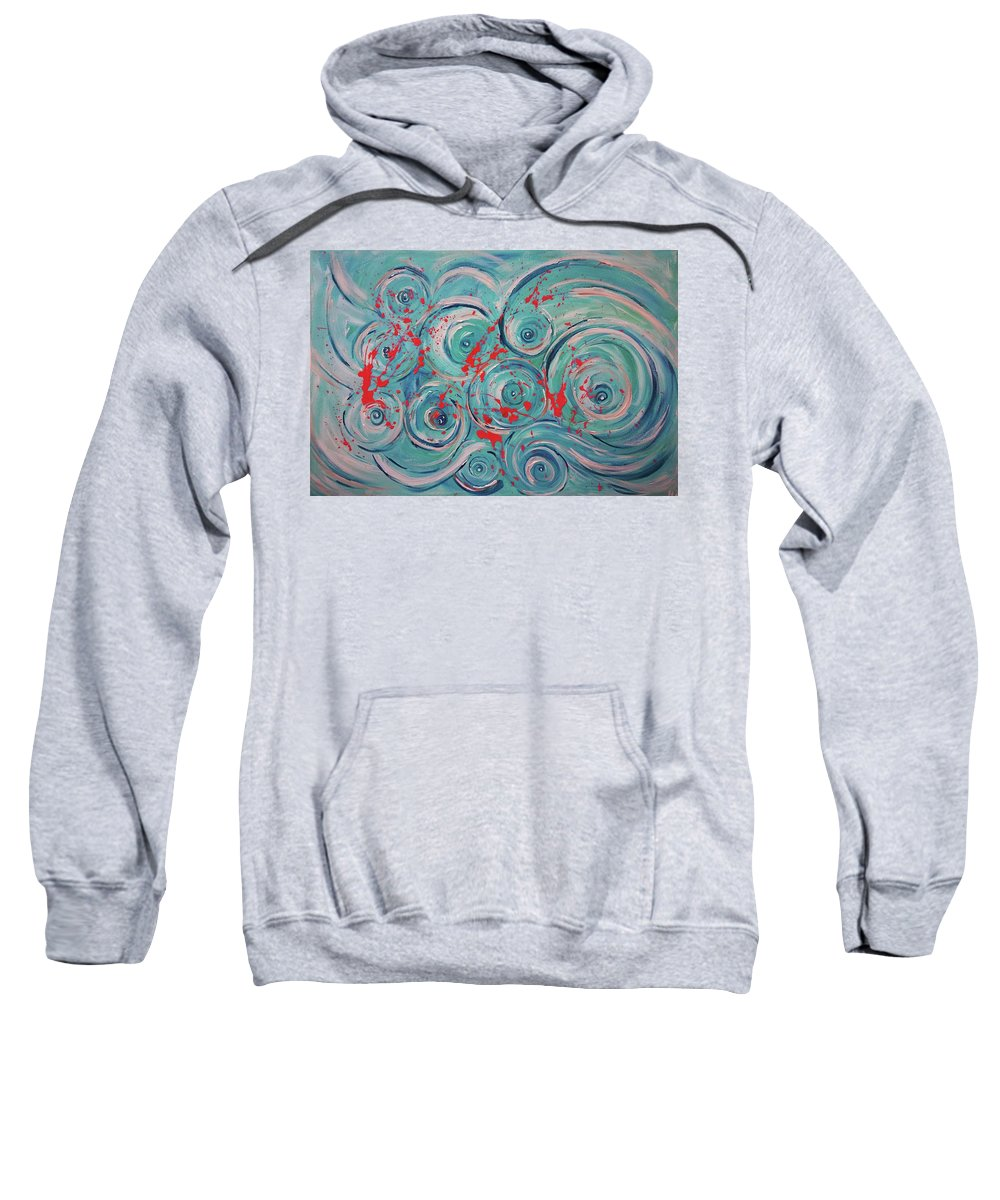 Painting Sweatshirt featuring the painting Wave by Maria Rom