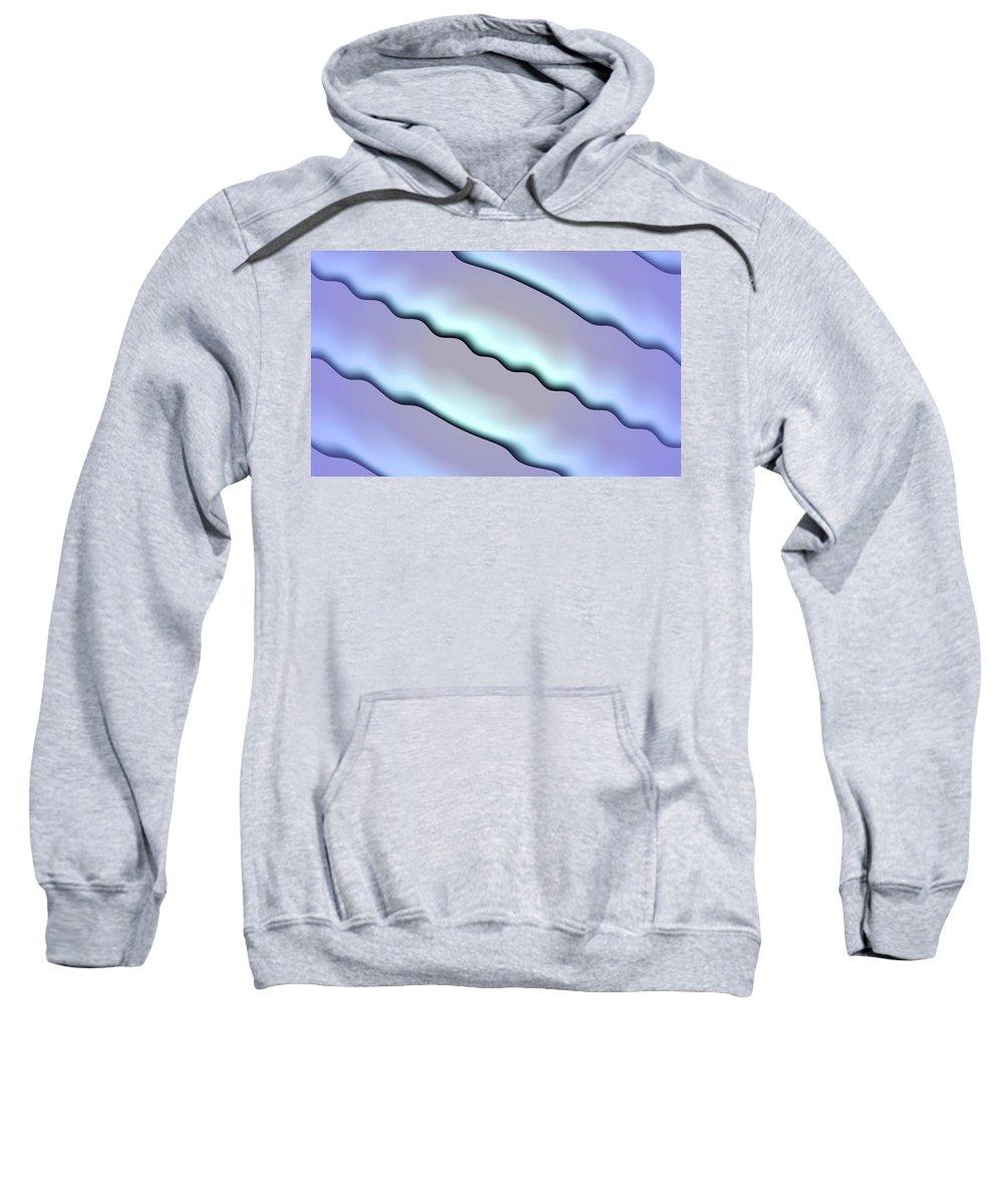 Art Digital Art Sweatshirt featuring the digital art Wave by Alex Porter