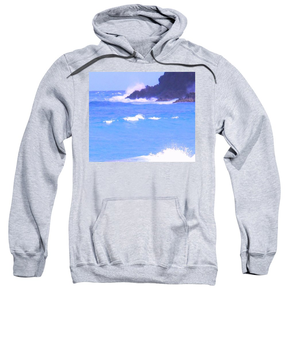 Ocean Sweatshirt featuring the photograph Waves Crashing by Ian MacDonald