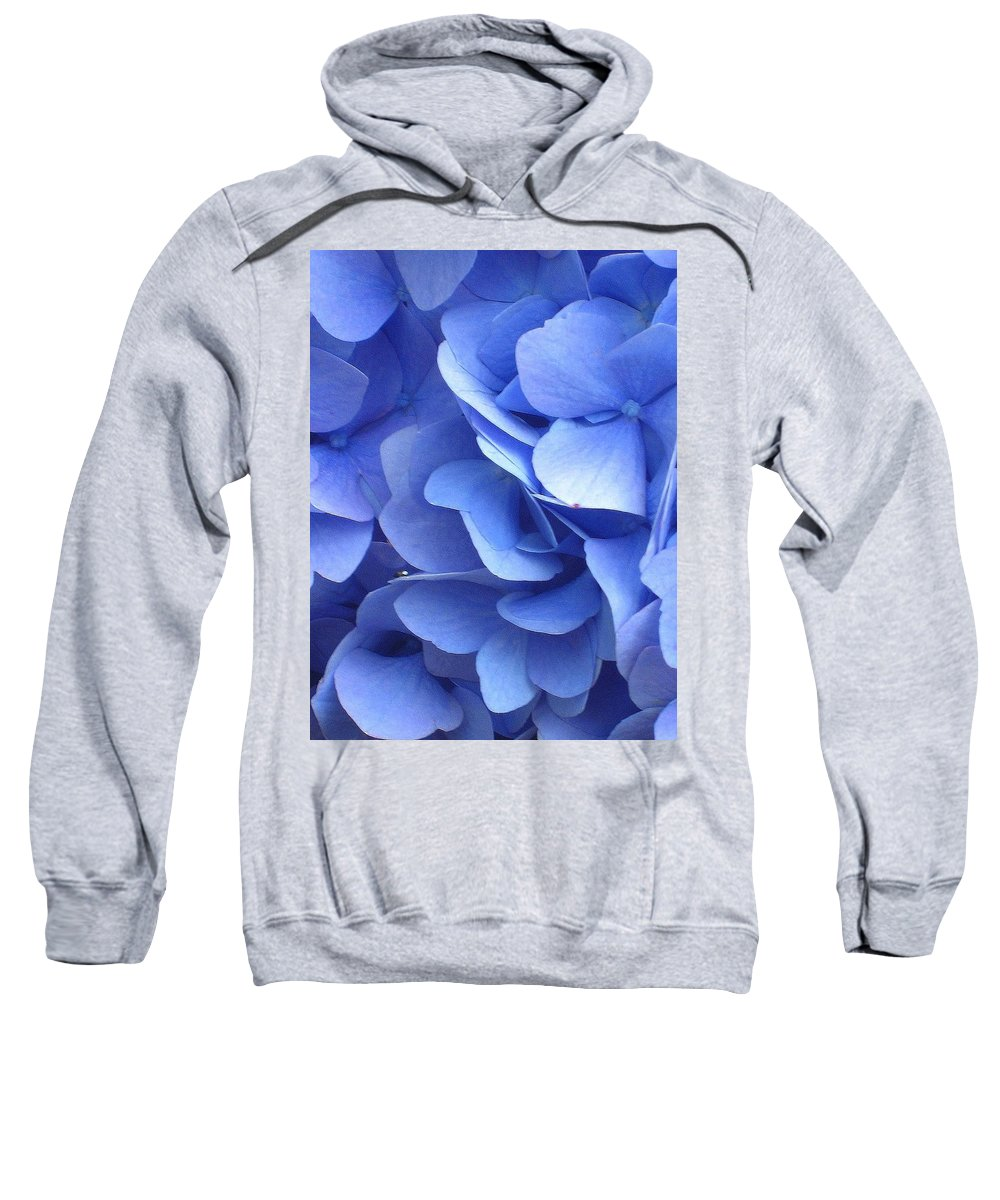 Floral Sweatshirt featuring the photograph Waves Of Blue by Marla McFall