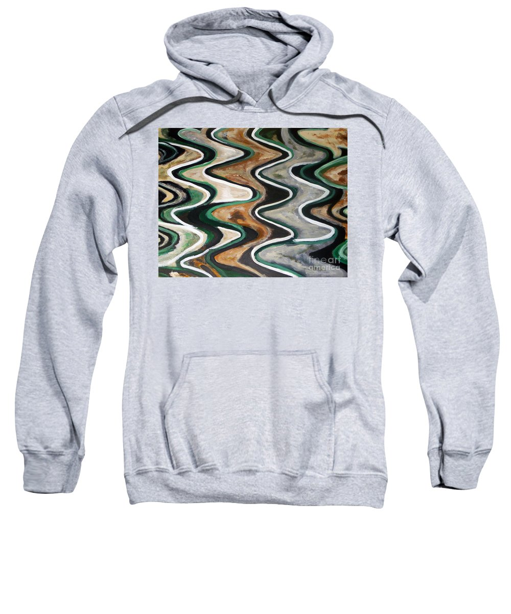 Acrylic Painting Sweatshirt featuring the painting Waves Of Life by Yael VanGruber