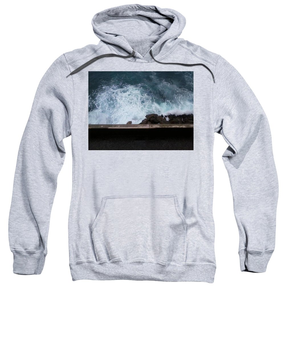 Waves Sweatshirt featuring the photograph Waves On The Mediterranean by Bekka Fortier