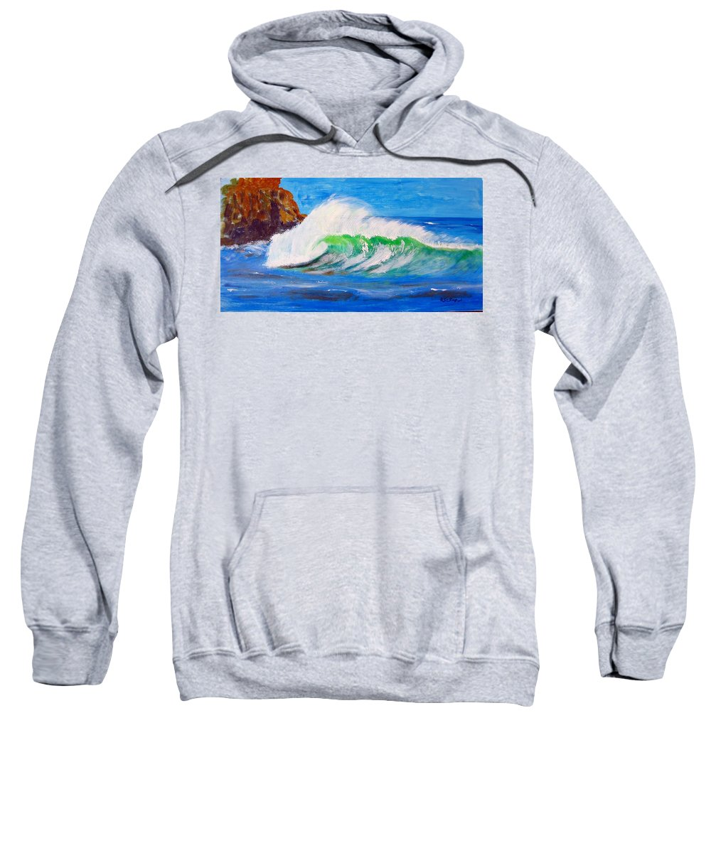 Waves Sweatshirt featuring the painting Waves by Richard Le Page