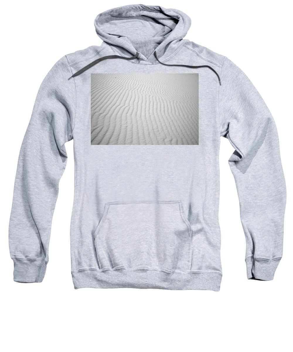 Wavy Sweatshirt featuring the photograph Wavy Sand by Dawn Crichton