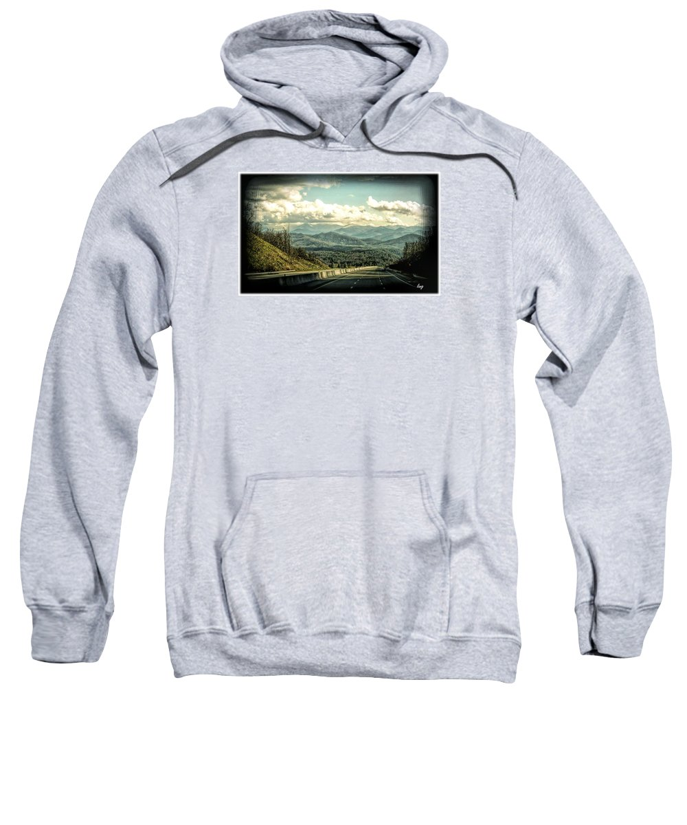 Mountains Sweatshirt featuring the photograph Way Home by John Lang