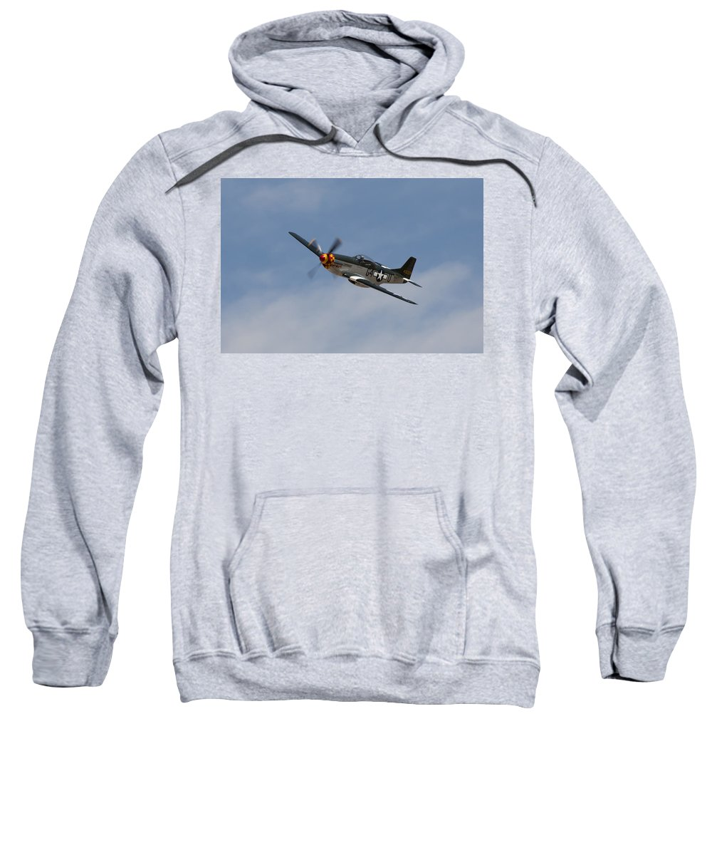 P-51 Sweatshirt featuring the photograph Wee Willy II by John Daly