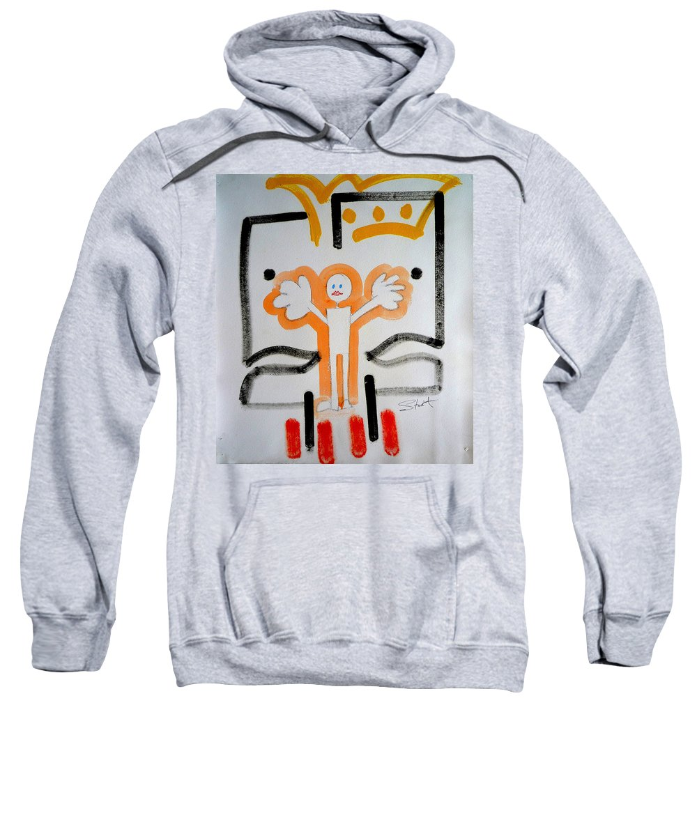 Drawing Sweatshirt featuring the painting welcome to the U N by Charles Stuart