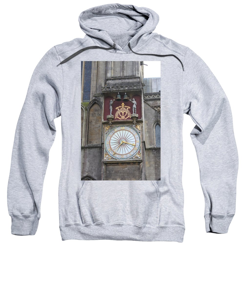 Wells Sweatshirt featuring the photograph Wells Cathedral Outside Clock by Lauri Novak