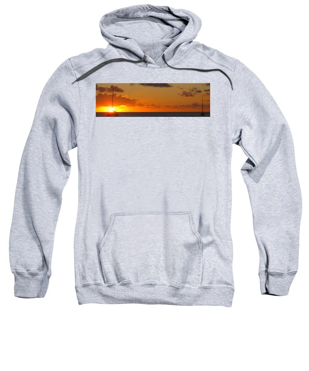 Sun Sweatshirt featuring the photograph West From Frigate Bay by Ian MacDonald