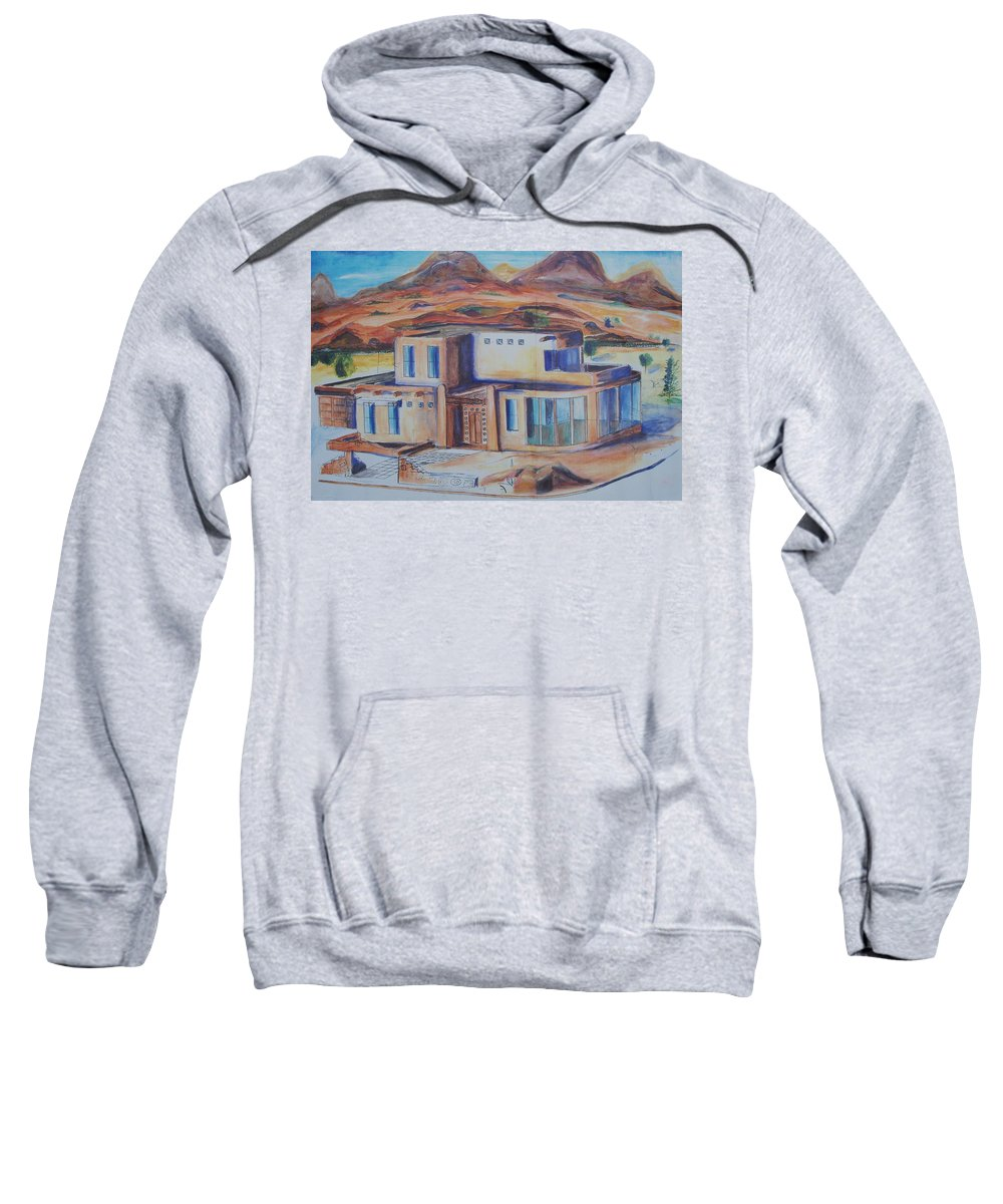 Floral Sweatshirt featuring the painting Western Home Illustration by Eric Schiabor