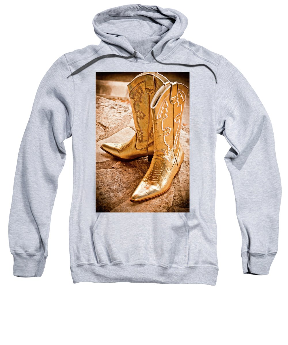 Boots Sweatshirt featuring the photograph Western Wear by Jill Smith