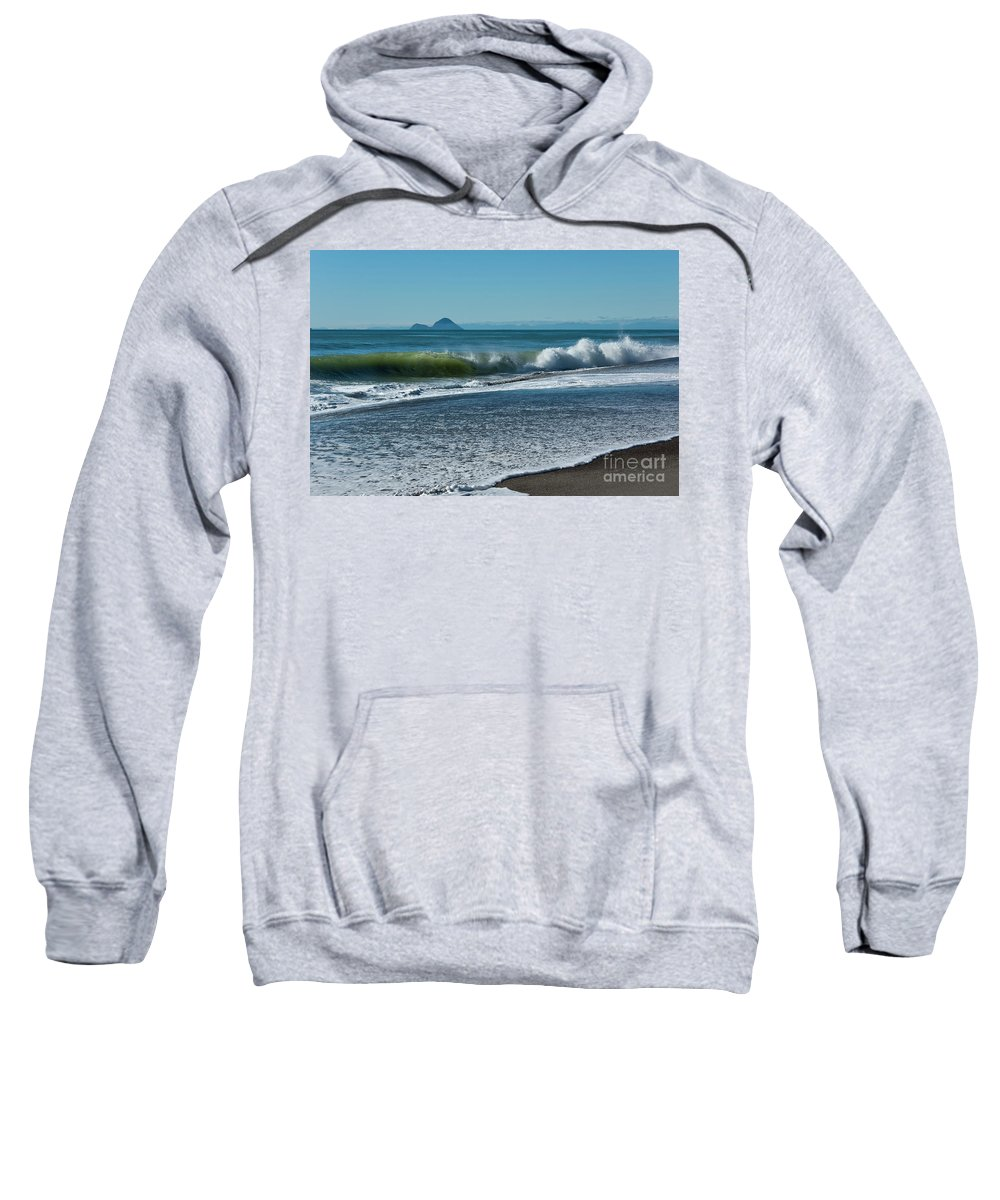 Beach Sweatshirt featuring the photograph Whale Island by Werner Padarin