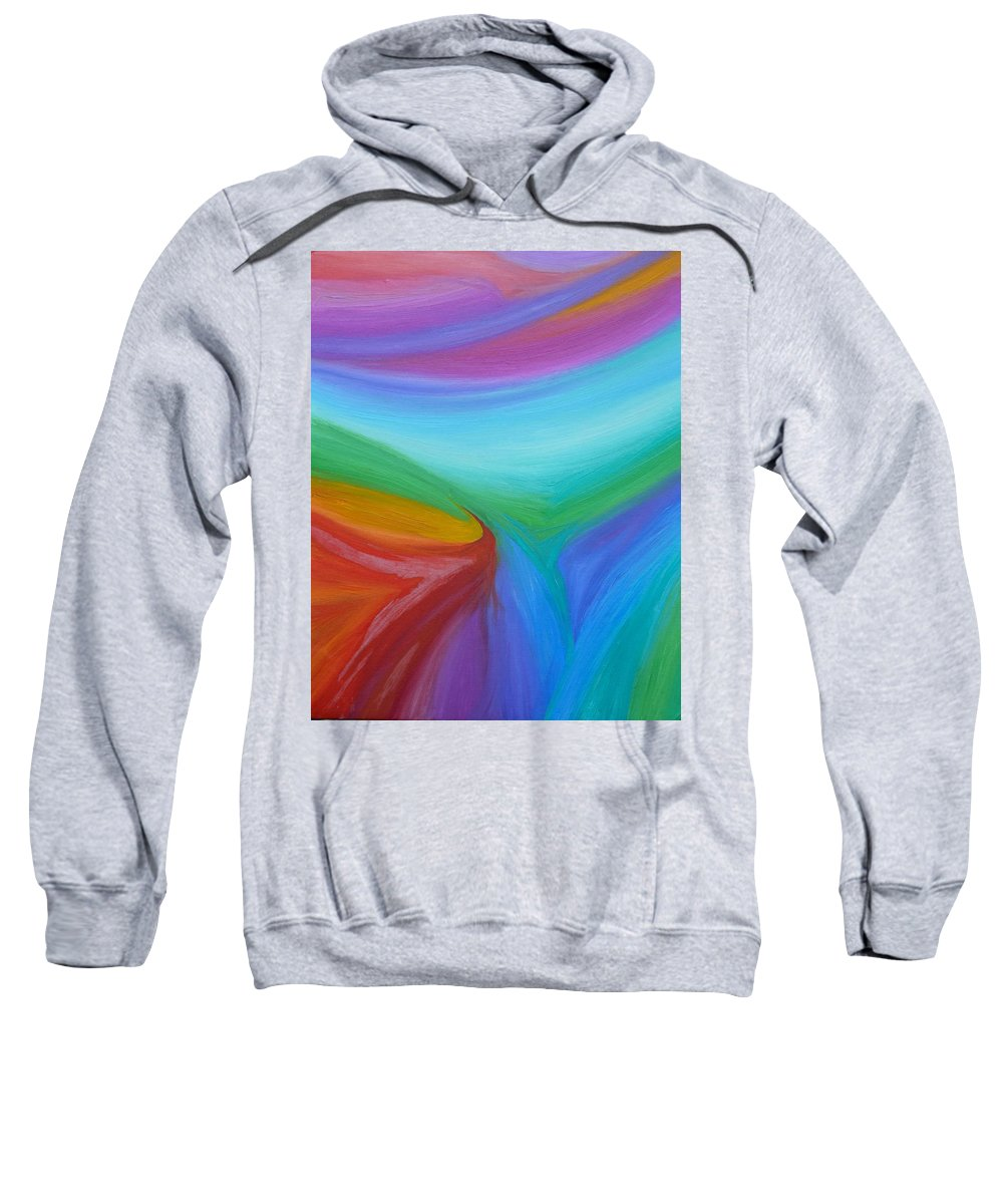 Abstract Sweatshirt featuring the painting What A Colorful World by Timothy Smith