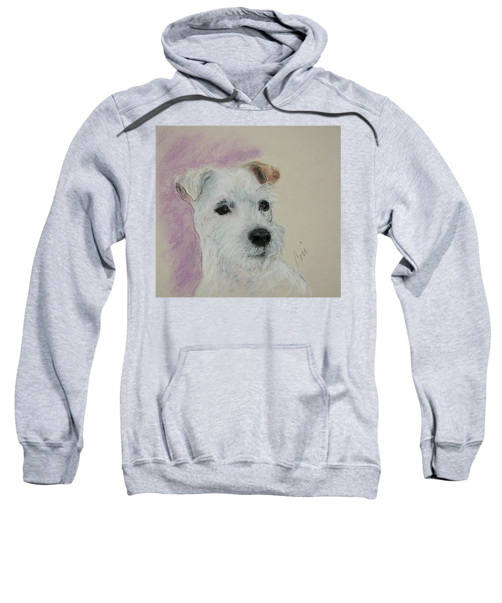 Pastel Sweatshirt featuring the drawing What A Riot by Cori Solomon
