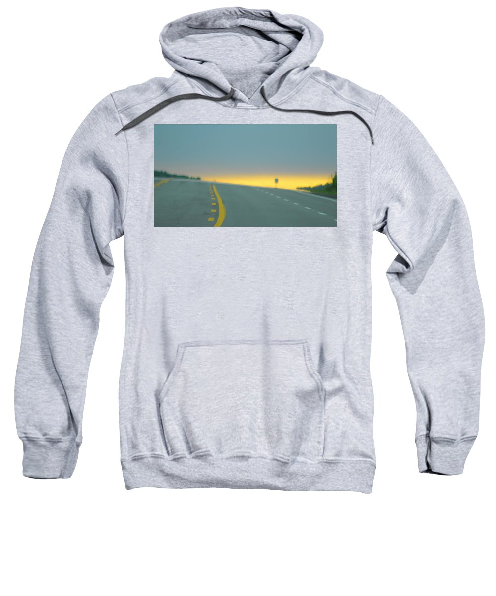 Travel Sweatshirt featuring the photograph What Comes by April Margeson