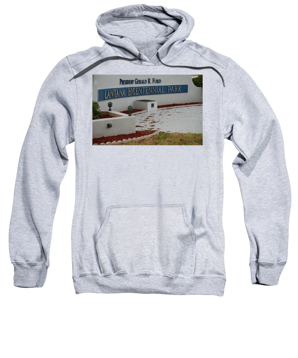 Landscapes Sweatshirt featuring the photograph What It Says by Rob Hans