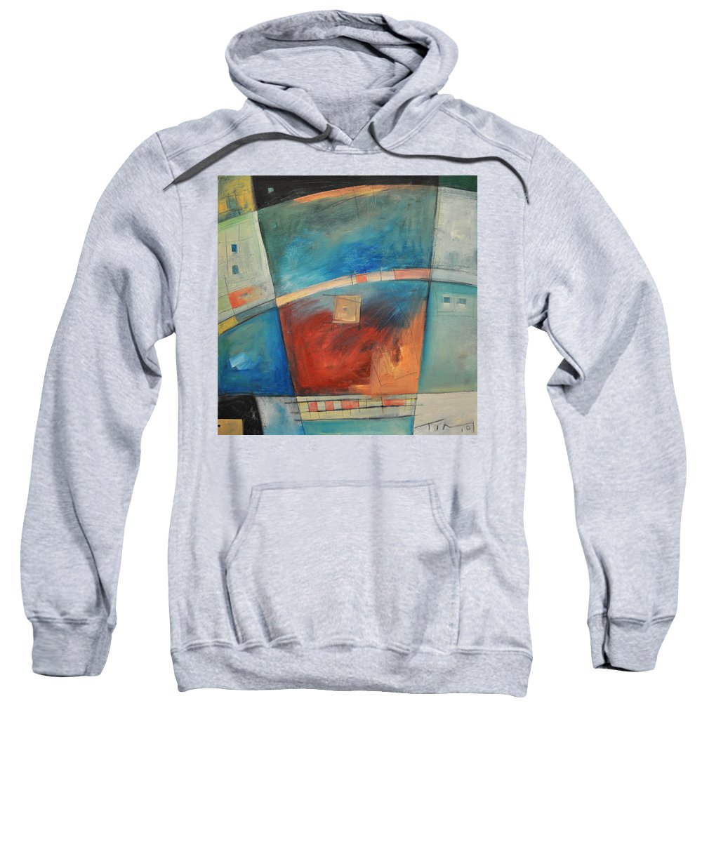Abstract Sweatshirt featuring the painting When Pigs Fly by Tim Nyberg