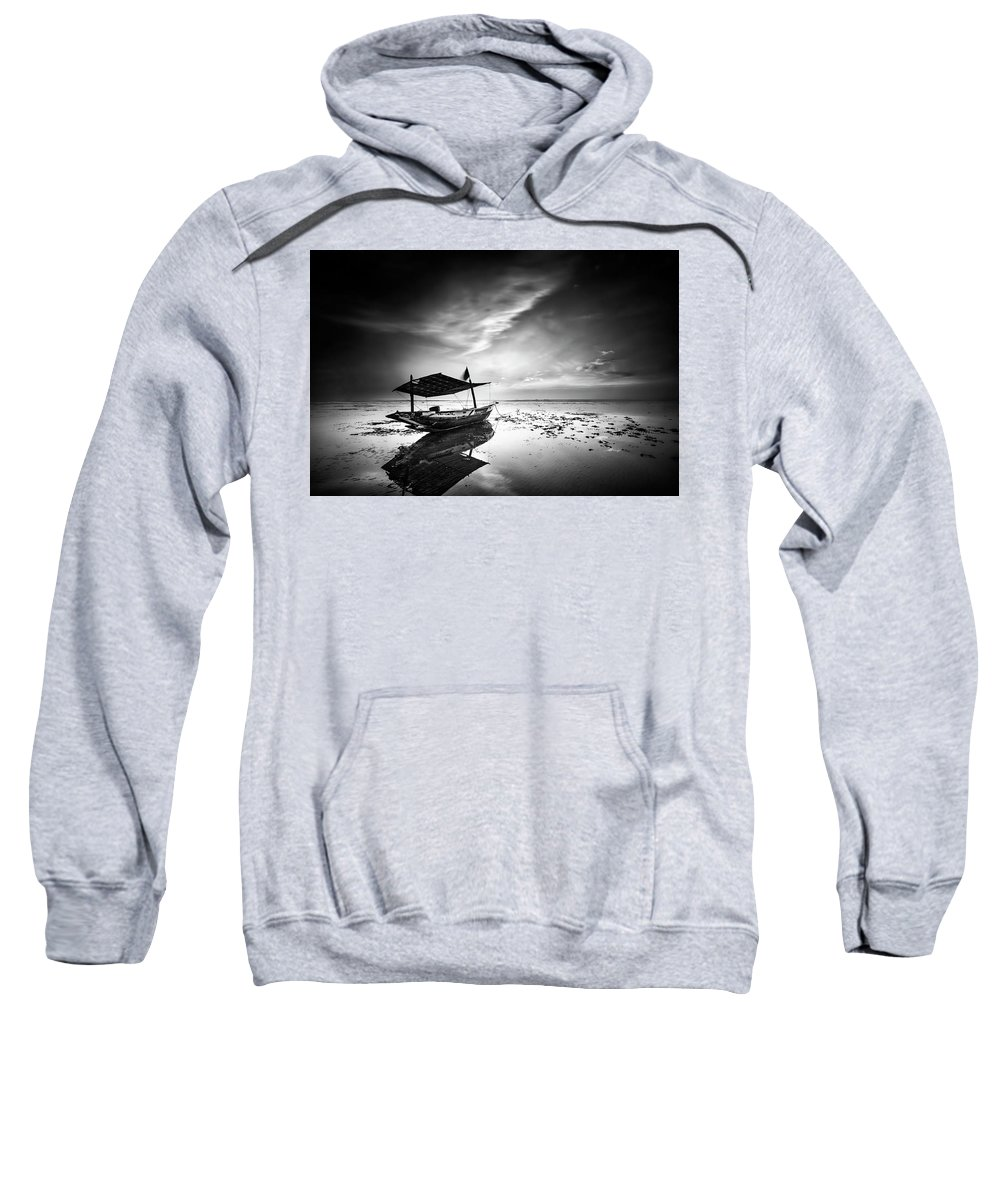 Landscape Sweatshirt featuring the photograph Where Does The Seawater by Handik Sudarsana