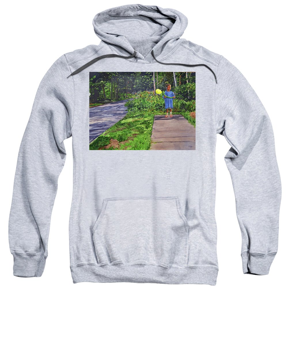 Children Sweatshirt featuring the painting Where The Sidewalk Ends by Valerie Patterson