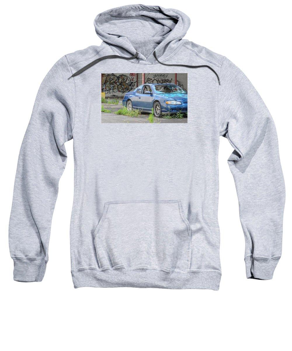 Graffitti Sweatshirt featuring the photograph Where's My Car? by My NOLA Eye