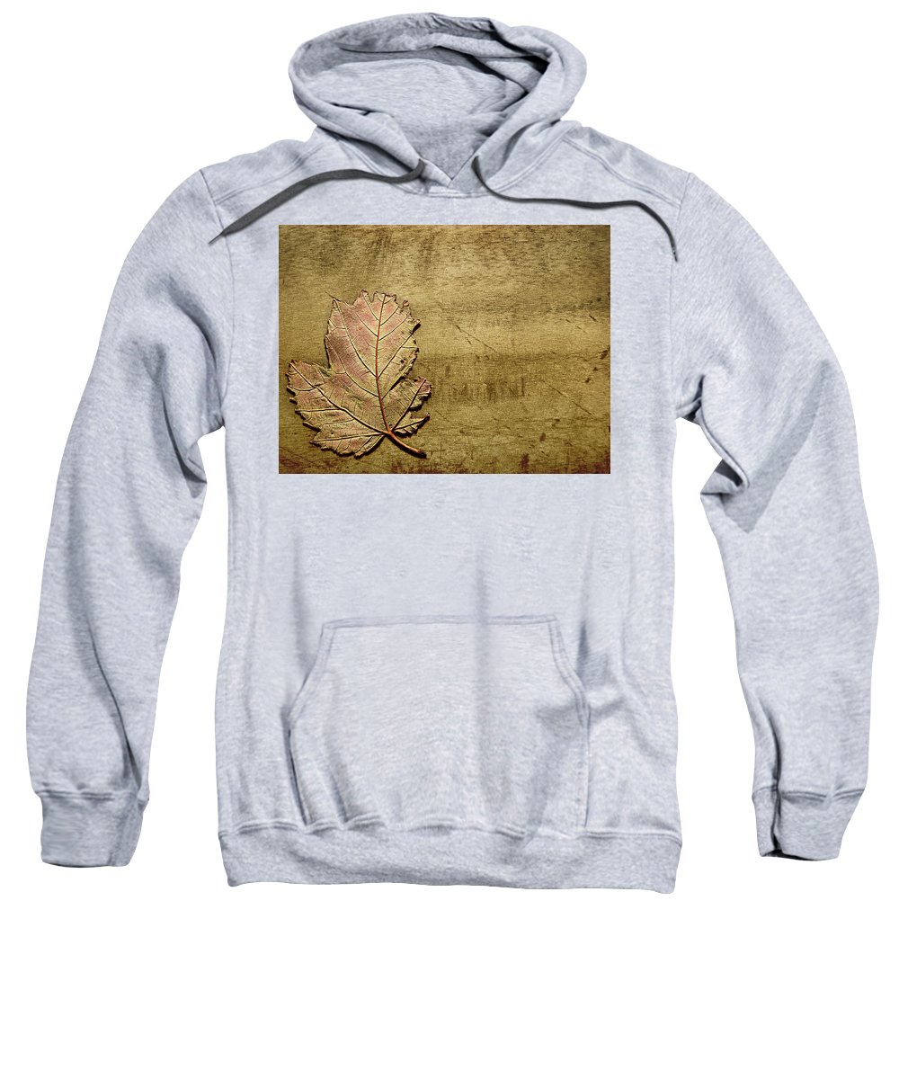 Autumn Sweatshirt featuring the photograph ...while You Fall Apart by Dana DiPasquale