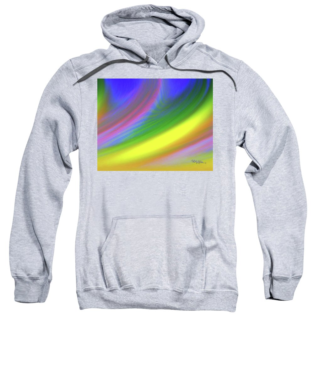 Whimsical Flow Sweatshirt featuring the digital art Whimsical #115 by Barbara Tristan