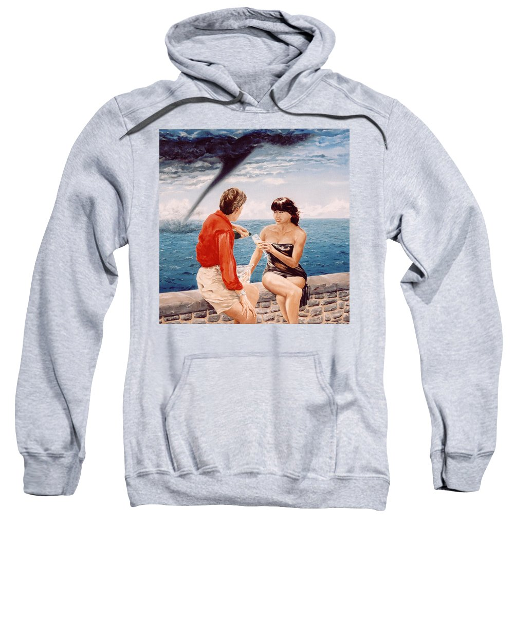 Whirlwind Sweatshirt featuring the painting Whirlwind Romance by Mark Cawood