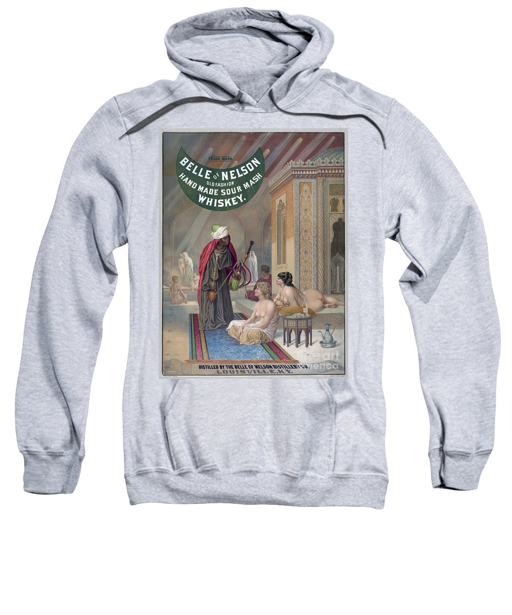 1888 Sweatshirt featuring the painting Whiskey Ad by Granger