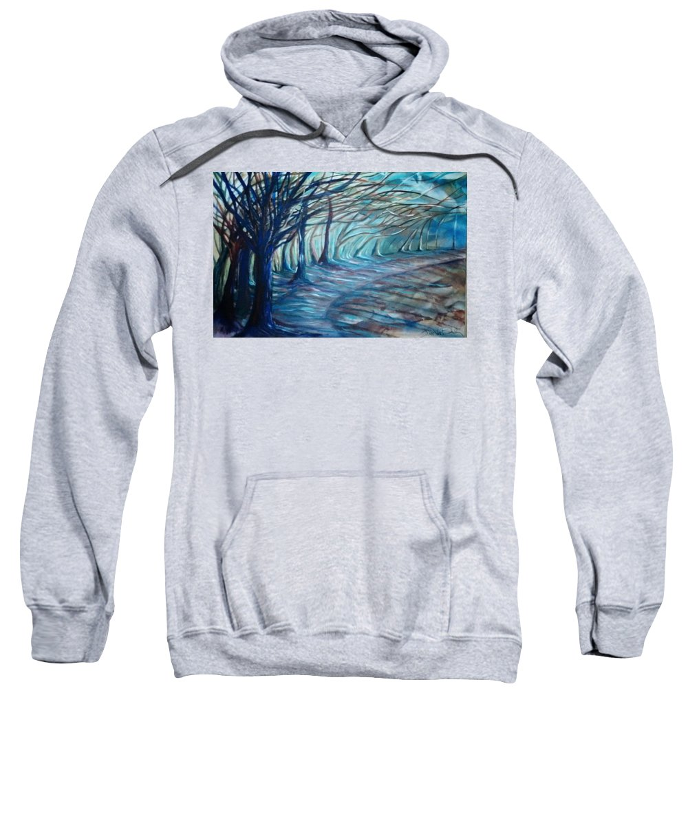 Surreal Landscape Sweatshirt featuring the painting Whisper by Jan VonBokel