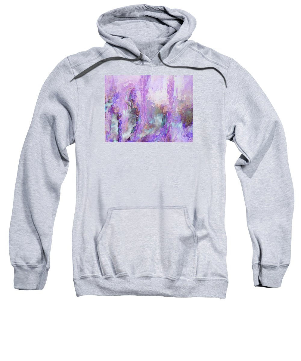 Abstract Art Sweatshirt featuring the digital art Whisper Softly by Linda Murphy
