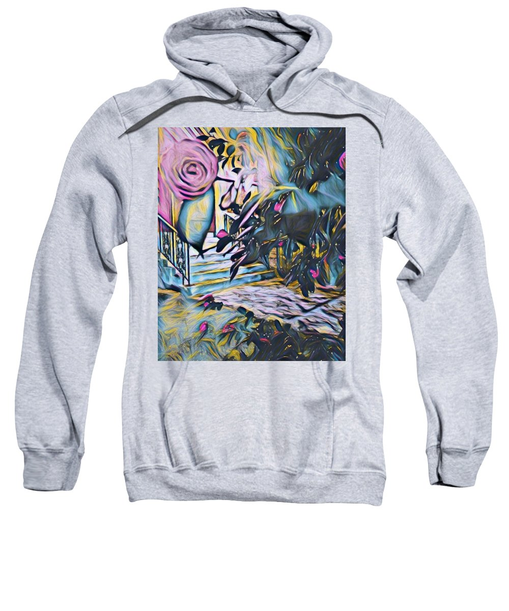 Sweatshirt featuring the digital art Whispers Of Spring by Julia Beck