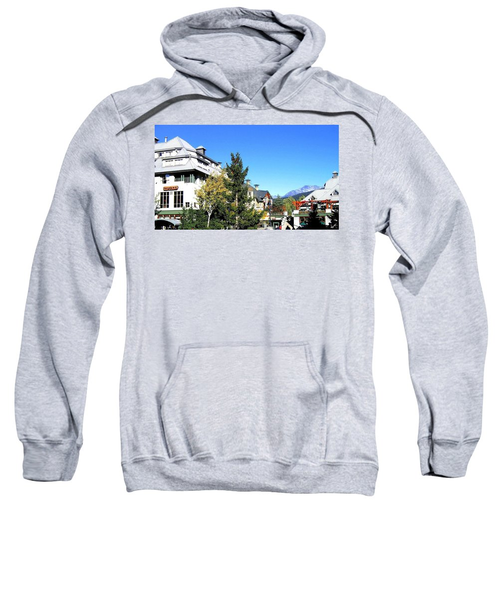 2010 Olympics Sweatshirt featuring the photograph Whistler Village by Will Borden