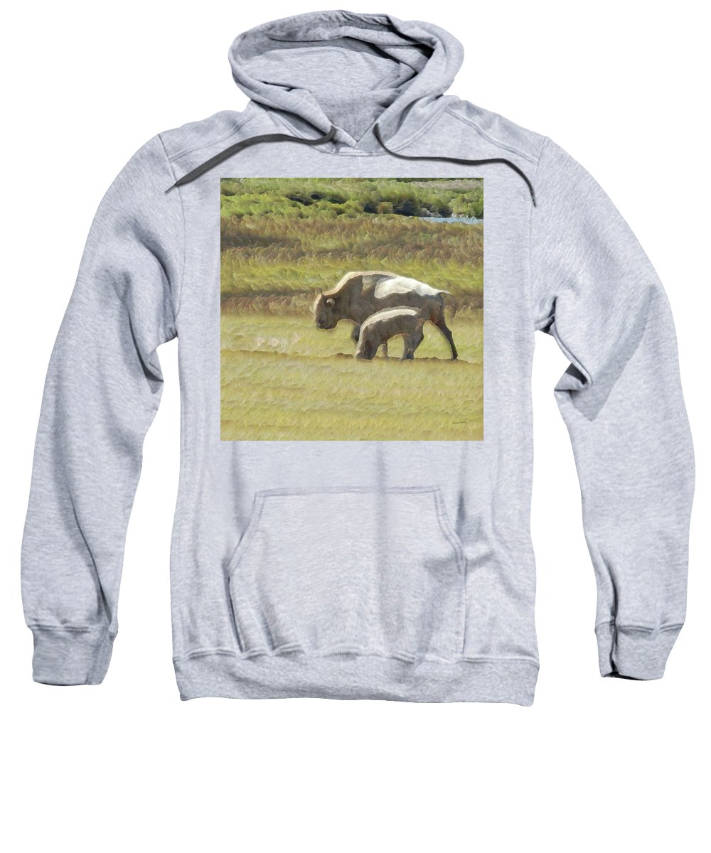 Animals Sweatshirt featuring the photograph White Buffalo by Ernie Echols